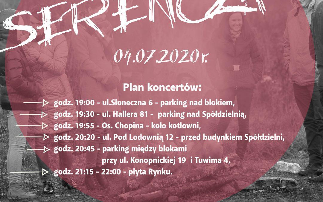 Nocne koncerty uliczne w wykonaniu zespołu Serencza